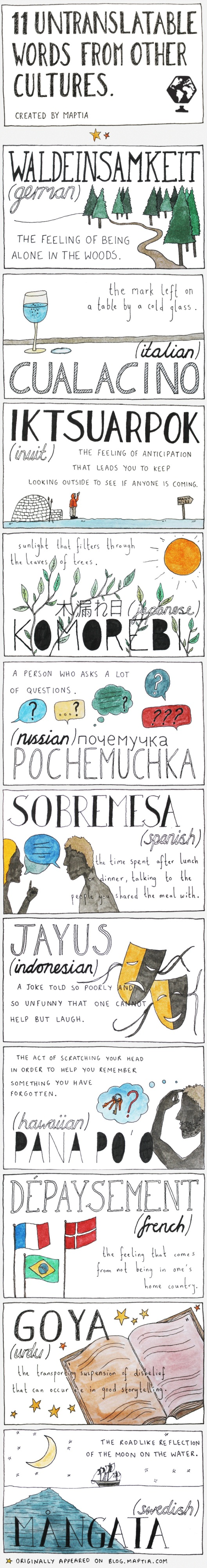 Untranslatable Words
