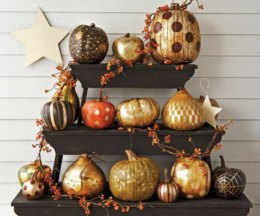 Gilded Pumpkins