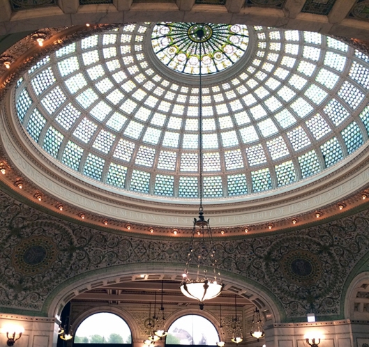 Chicago Cultural Center Tiffany Dome